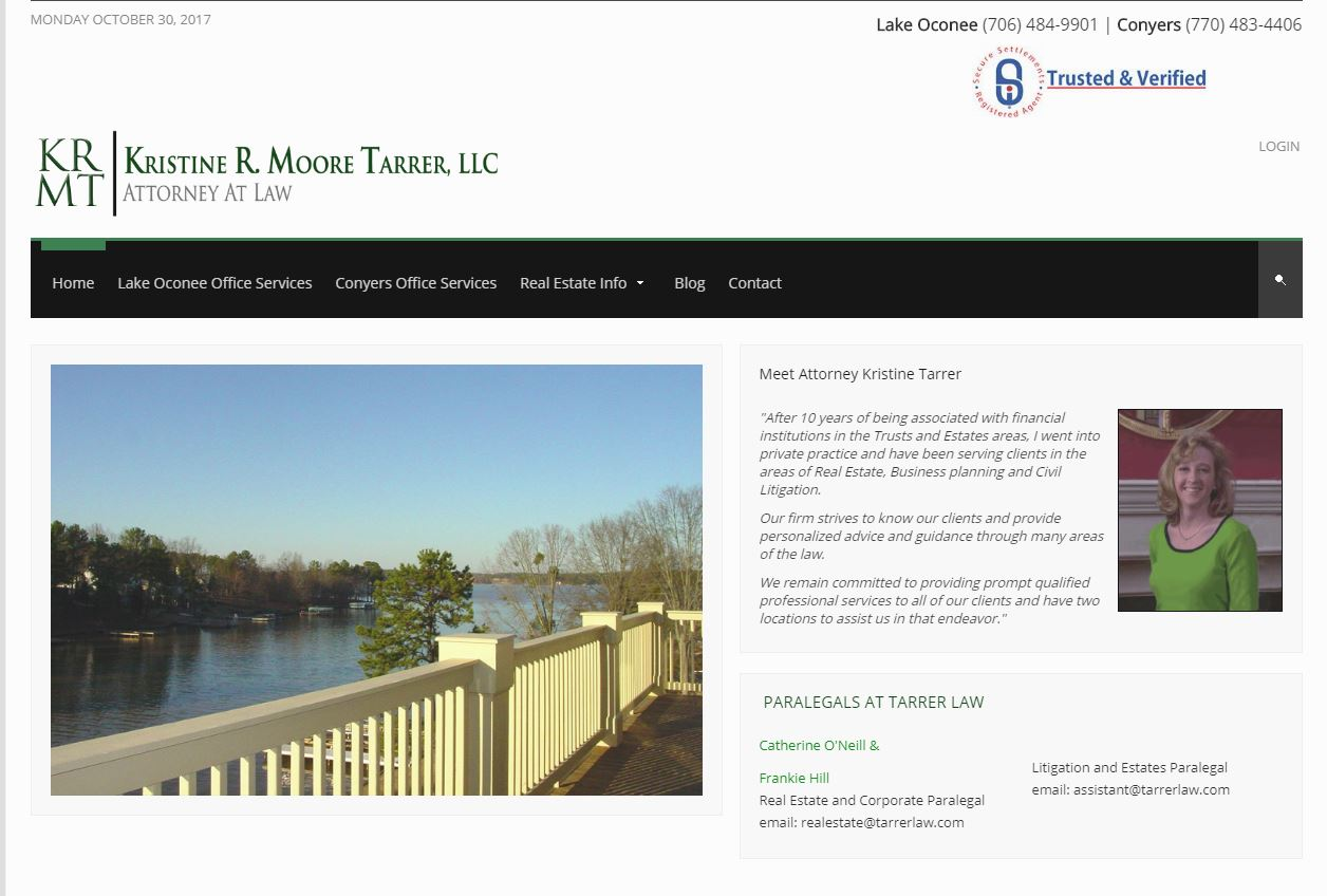 Solia Media Website for Tarrer law of Georgia