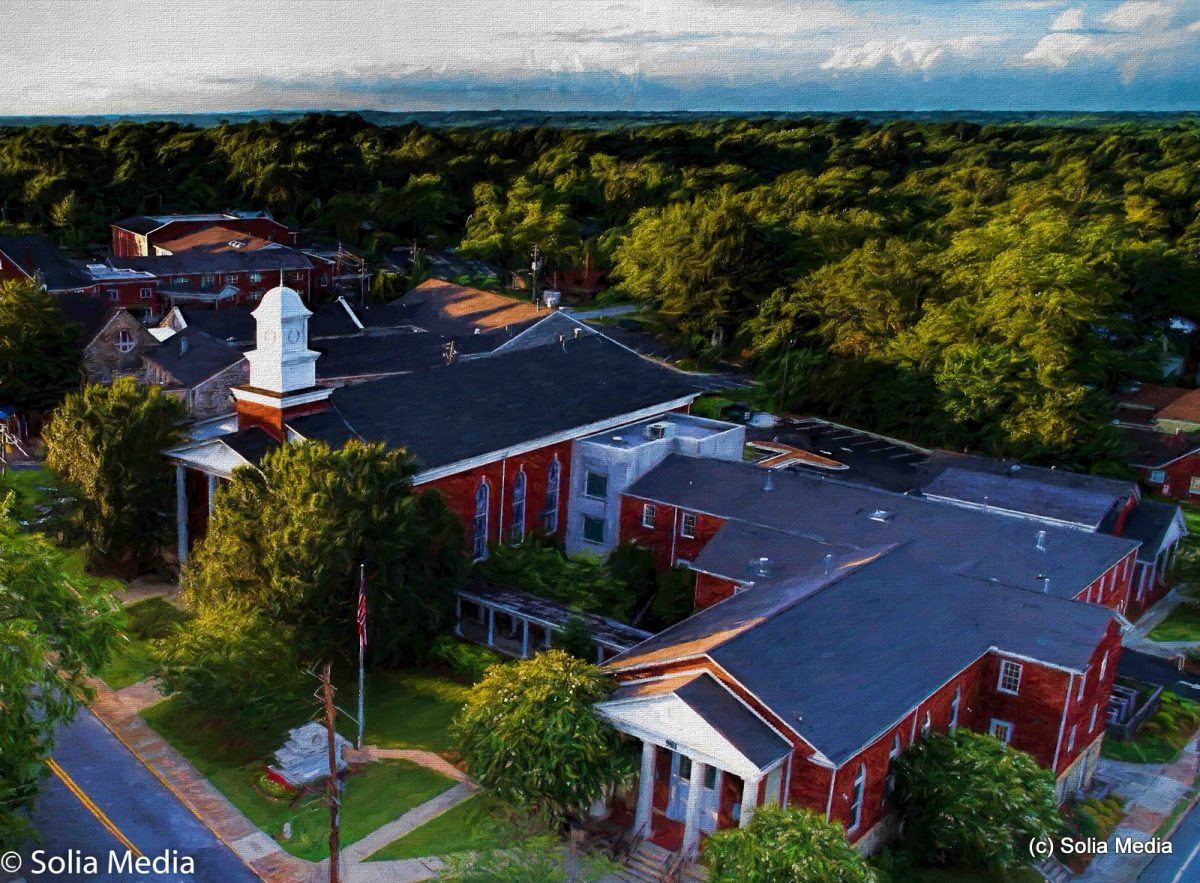 Solia Media is FAA Certified. Drone Shot of Rockdale County Government - Olde Town Conyers FAA Licensed - Drone Shot - Rockdale County Government