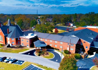 Olde Town Conyers, Solia Media Drone Photography - Churches