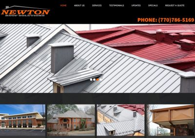 Solia Media Designed Website – Newton Roof Solutions