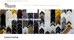 Reed's Custom Framing and Gallery - Solia Designed Website - Conyers