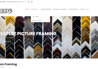 Reed's Custom Framing and Gallery – New Solia-Designed Website