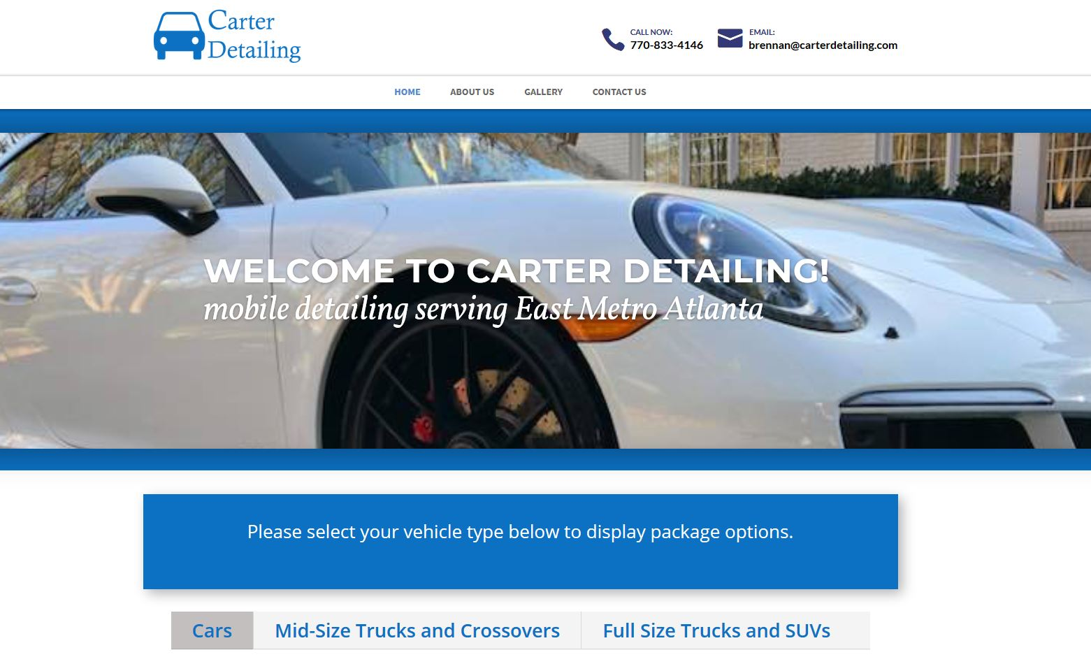 Carter Detailing is locally owned and operated by Brennan Carter serving Athens, Loganville, Monroe, Oconee, Watkinsville, Walton, Newton, Conyers, Covington and Rockdale.