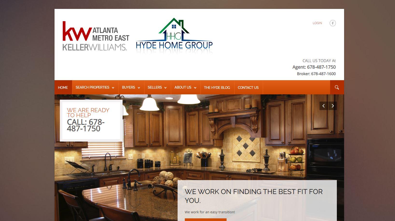 Solia Media Website for Hyde Home Group - East Metro Atlanta Ga.